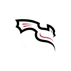 Black Flying Dragon Logo
