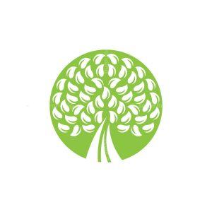 Circle Green Tree Logo Leaves Tree Logo