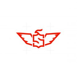 letter s eagle falcon wing