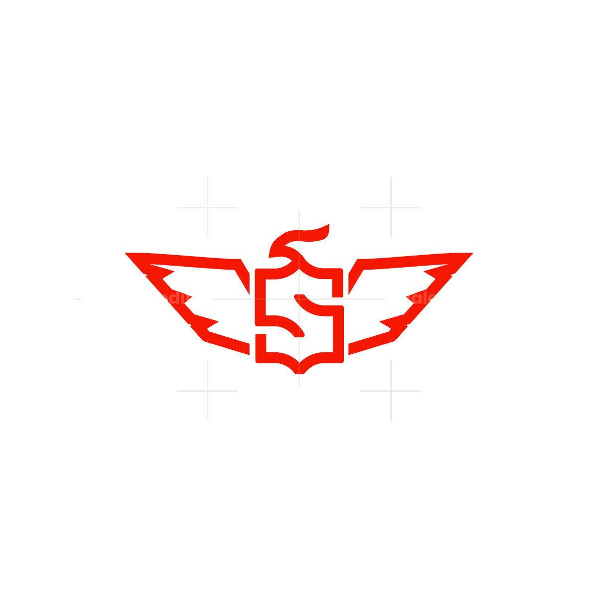 letter s eagle falcon wing