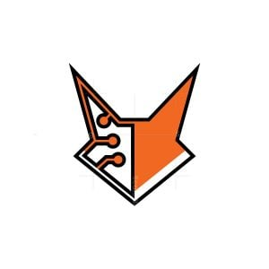 Cyber Fox Head Logo