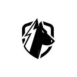 Bolt Lightning Thunder Dog Logo