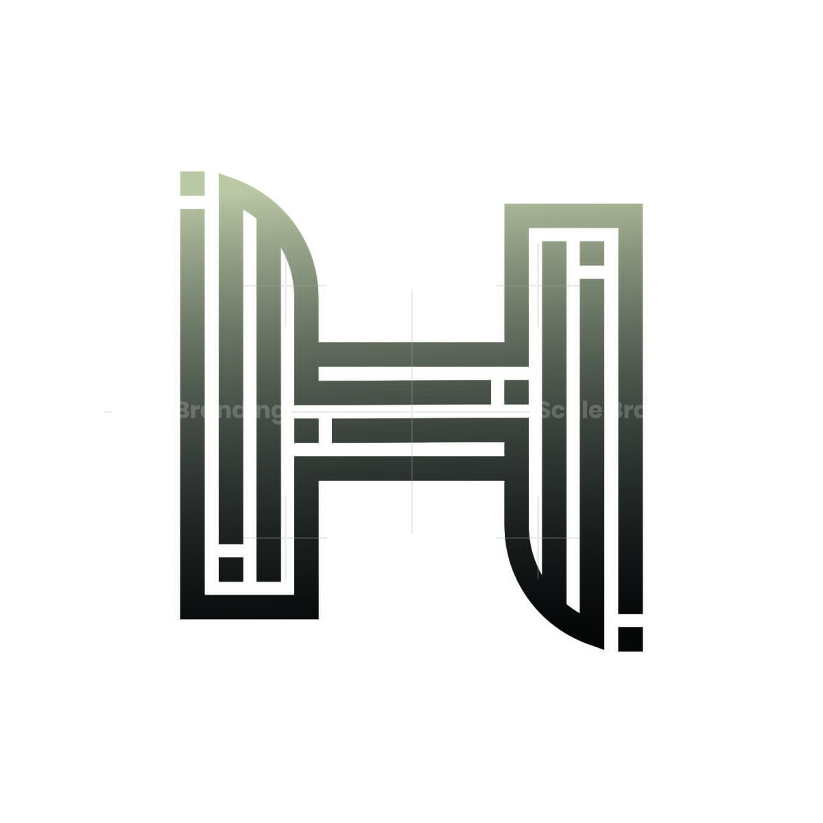 initial h stylish and trendy letter logo