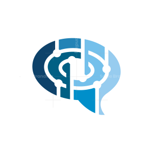 Chat Talking Brain Logo