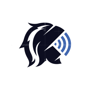 WiFi Technology Knight Helmet Logo