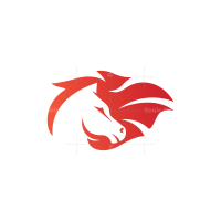 Wind Horse Head Logo