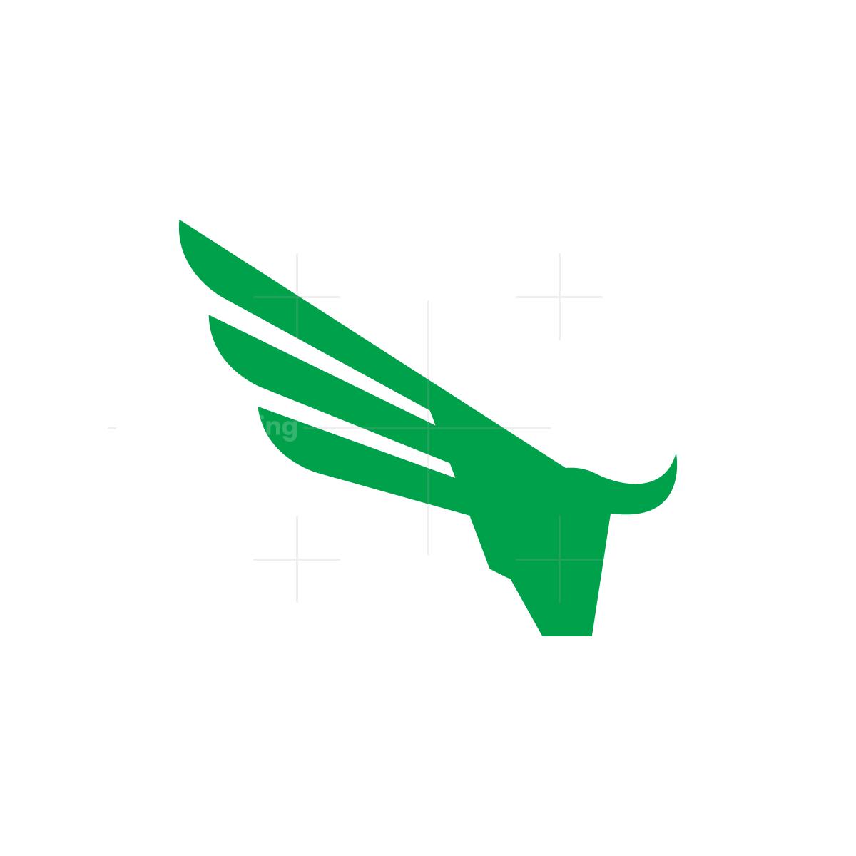Winged Bull Head Logo