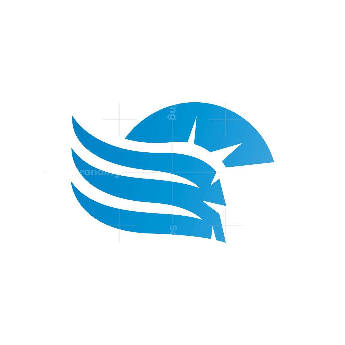 Winged Spartan Helmet Logo