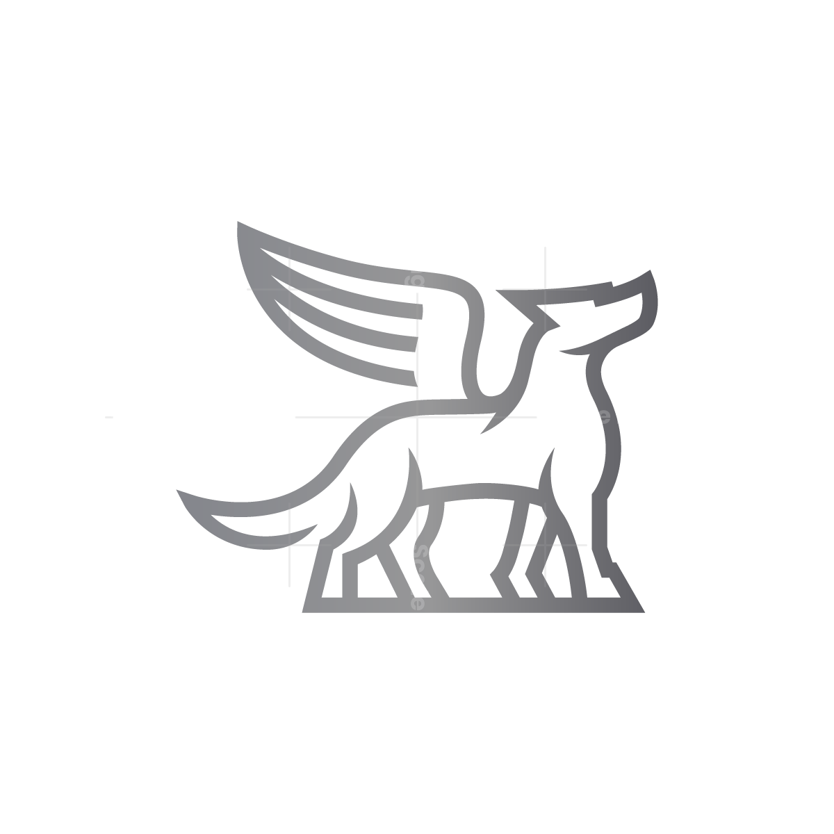 Winged Wolf Logo