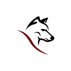 Black Wolf Head Logo