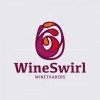 Wine Glass Swirl Logo