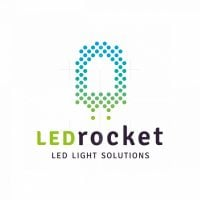 Led Light Rocket Logo