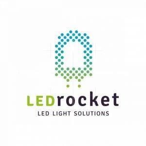 Led Light Rocket Logo