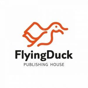 Flying Duck Book Mascot Logo