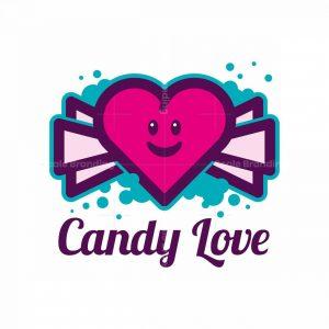 Candy Love Heart Mascot Logo