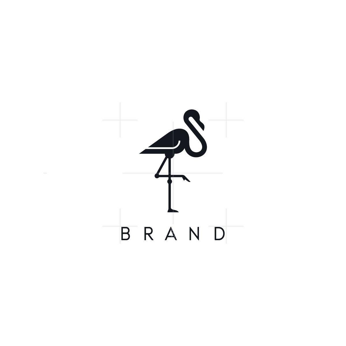 Elegant Flamingo Logo