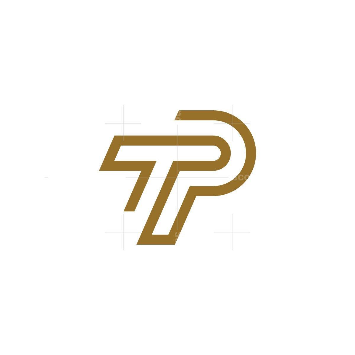 Stylish Letter Tp Logo