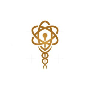 Science Medical Caduceus Logo