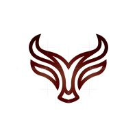 Stylized Bull Head Logo