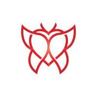 Love Butterfly Logo