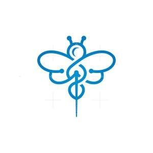 Bee Caduceus Logo