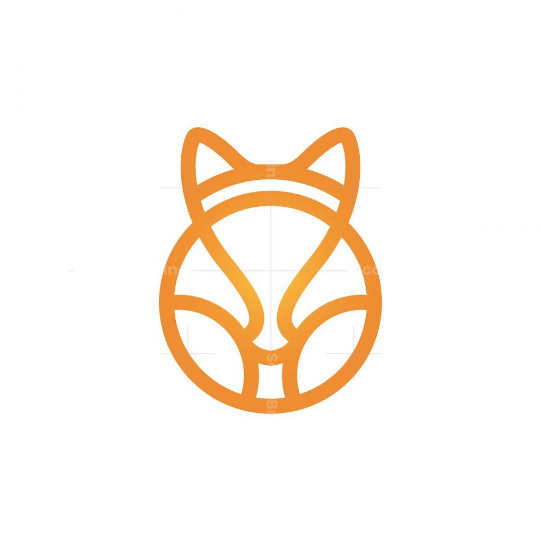 Orange Fox Head Logo