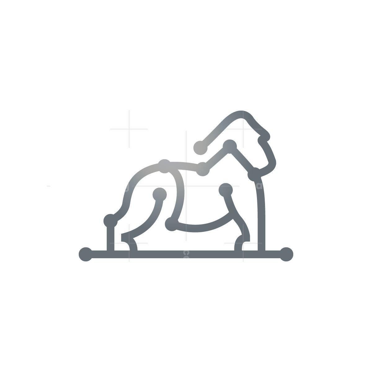 Cyber Silverback Gorilla Logo