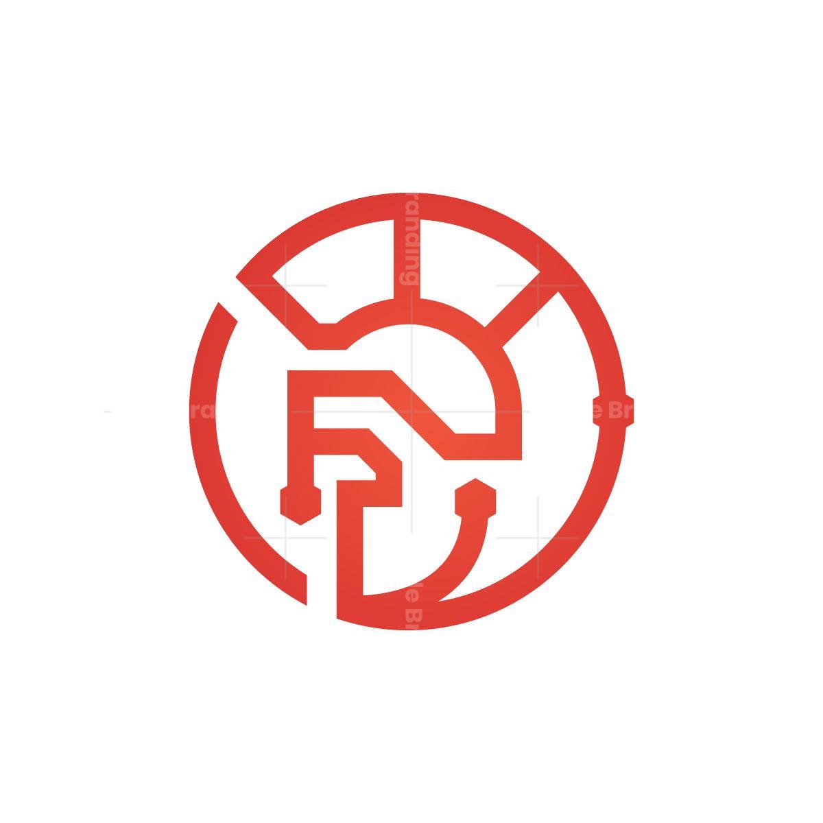 Cyber Spartan Helmet Logo