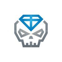 Blue Diamond Skull Logo