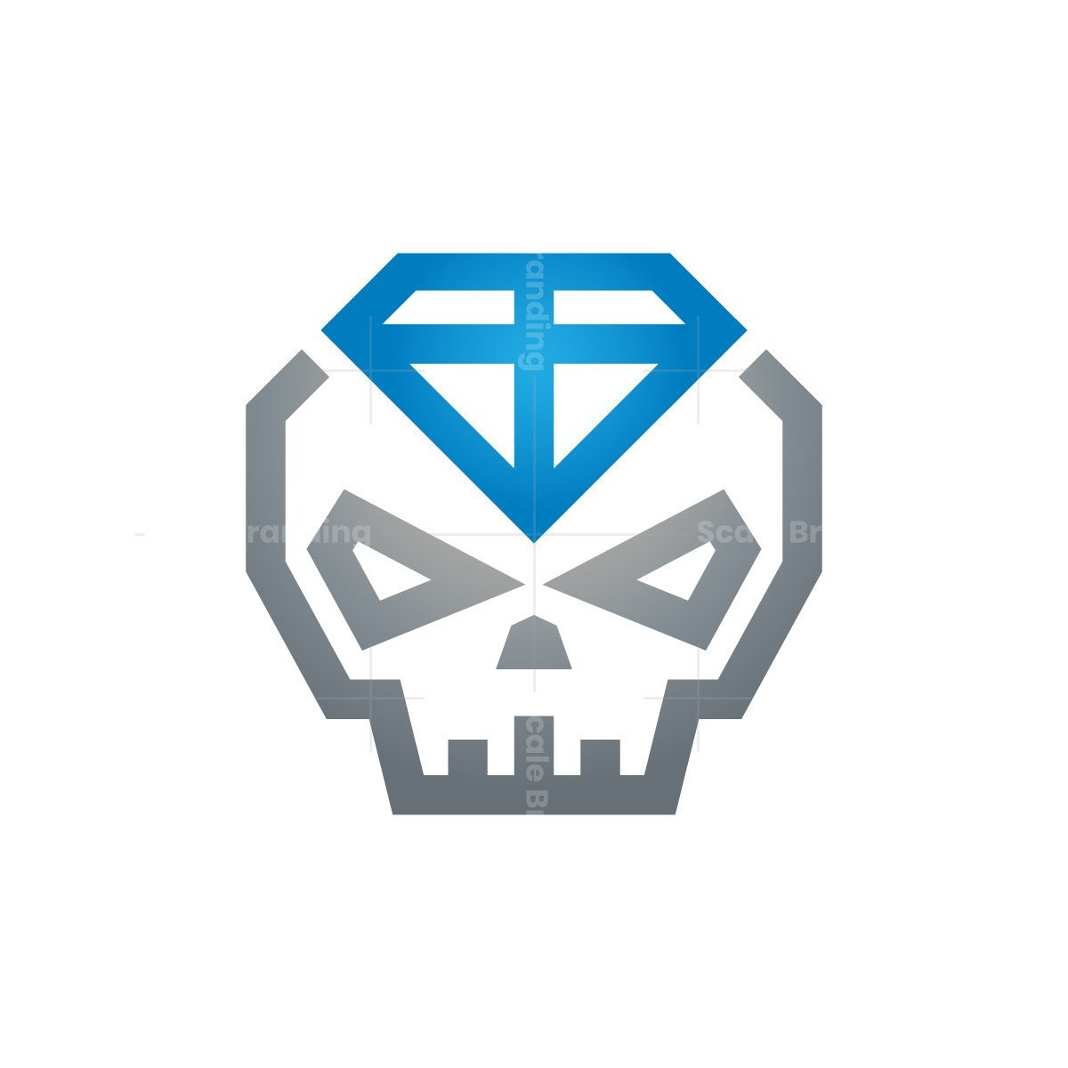 Blue Diamond Skull Logo