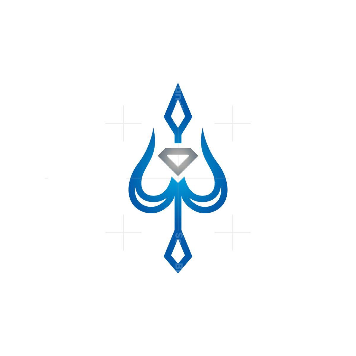 Diamond Neptune Trident Logo