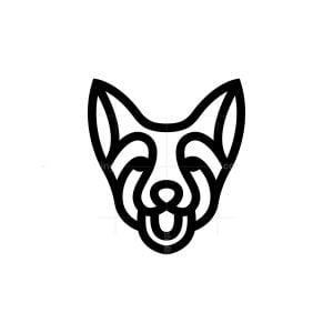 Happy Dog Head Logo