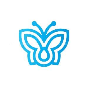 Blue Flying Butterfly Logo
