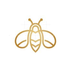 Honey Drop Bee Logo