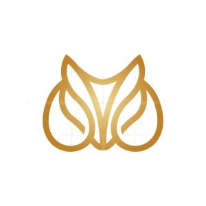 Golden Drops Fox Logo Fox Head Logo