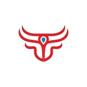 Gem Bull Head Logo Bull Logo
