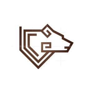 Glyph Bear Head Logo