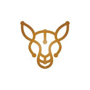 Golden Kangaroo Logo Kangaroo Head Logo