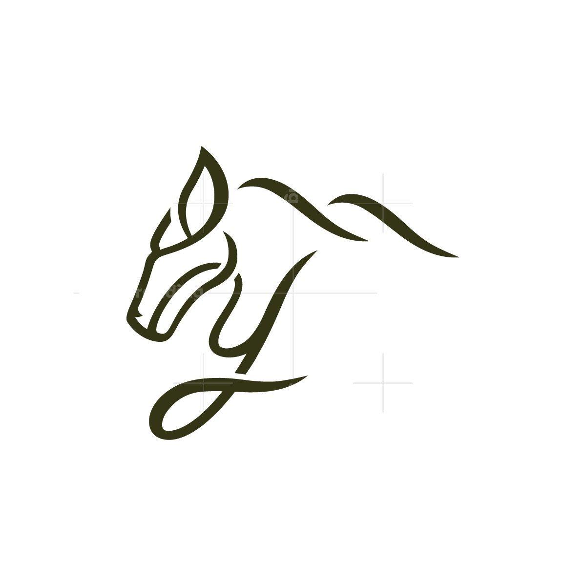 Letter Y Horse Head Logo