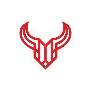 Red Taurus Logo Bull Head Logo