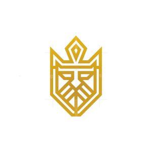 Crowned Golden King Logo