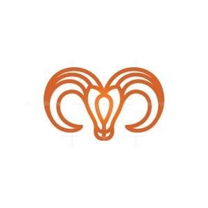 Goat Ram Head Logo