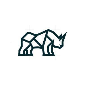 Lines Rhino Logo Rhinoceros Logo