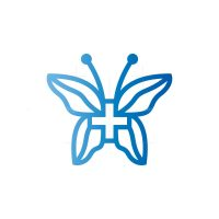 Health Care Butterfly Logo