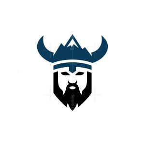 Nature Mountain Viking Logo