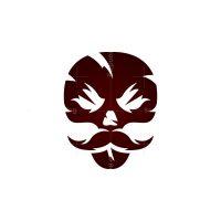 Mustache Skull Logo