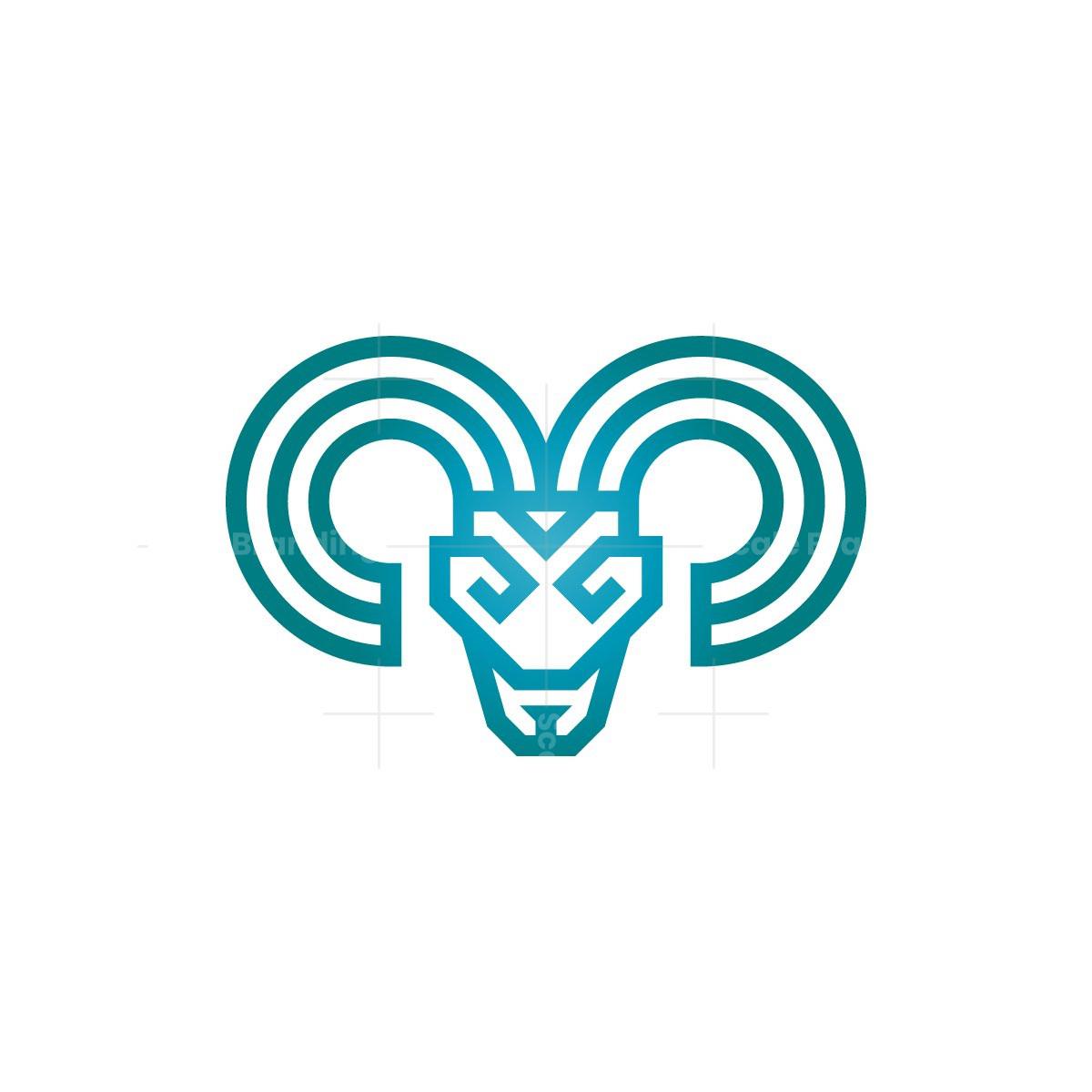 Ram Head Logo Goat Head Logo