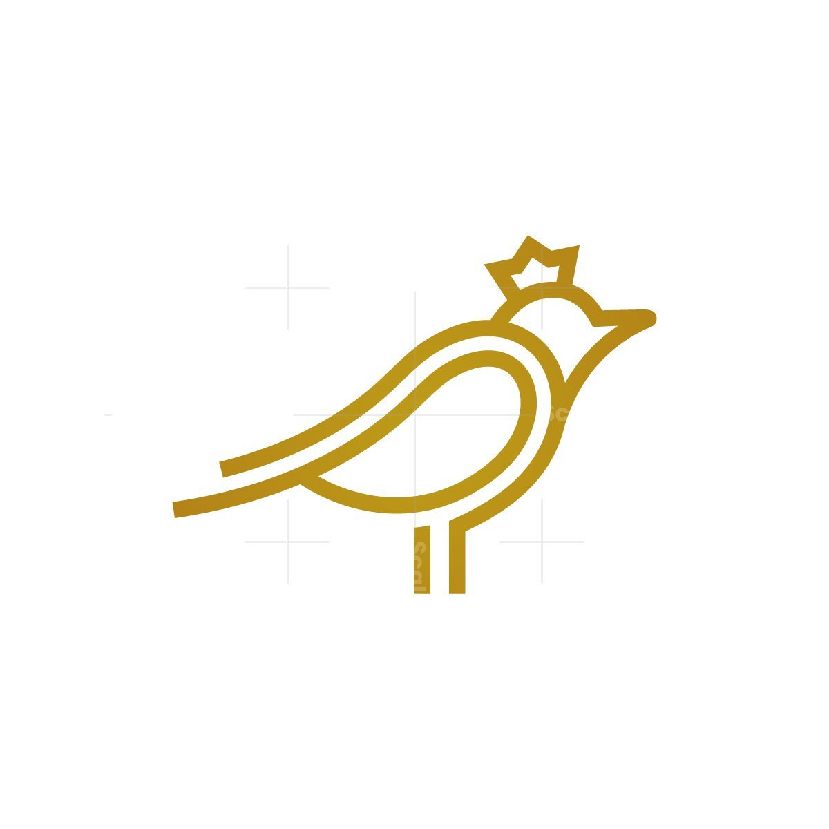 Crowned Bird Logo