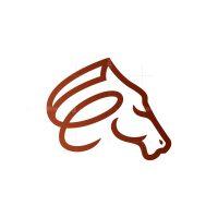 Letter E Horse Head Logo