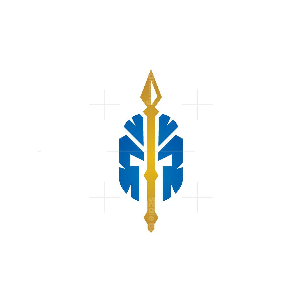 Spear Spartan Helmet Logo